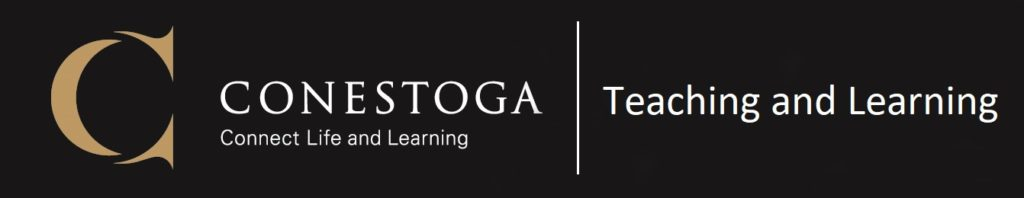 Conestoga logo. Teaching and learning.