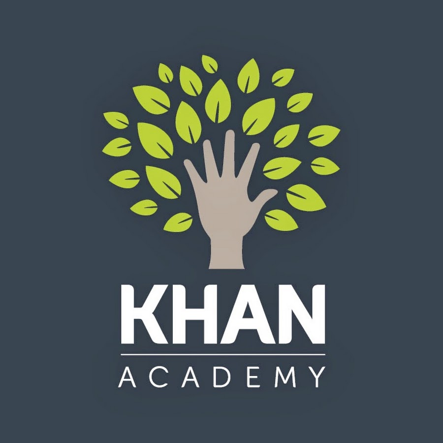 khan academy logo showing a hand with leaves growing out of it.