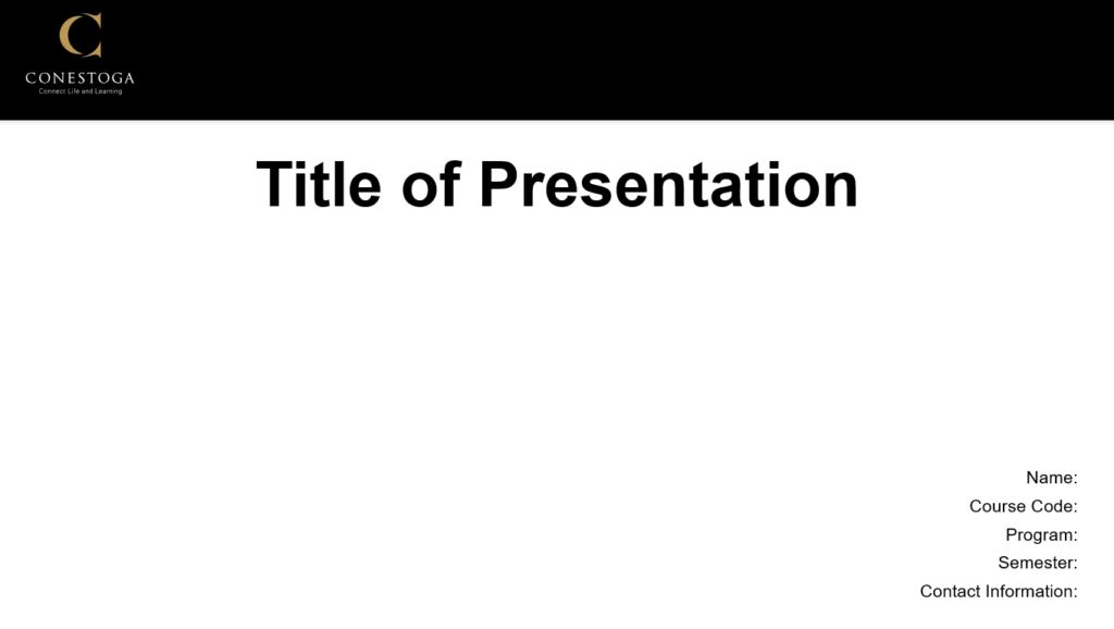 preview of the standard presentation template