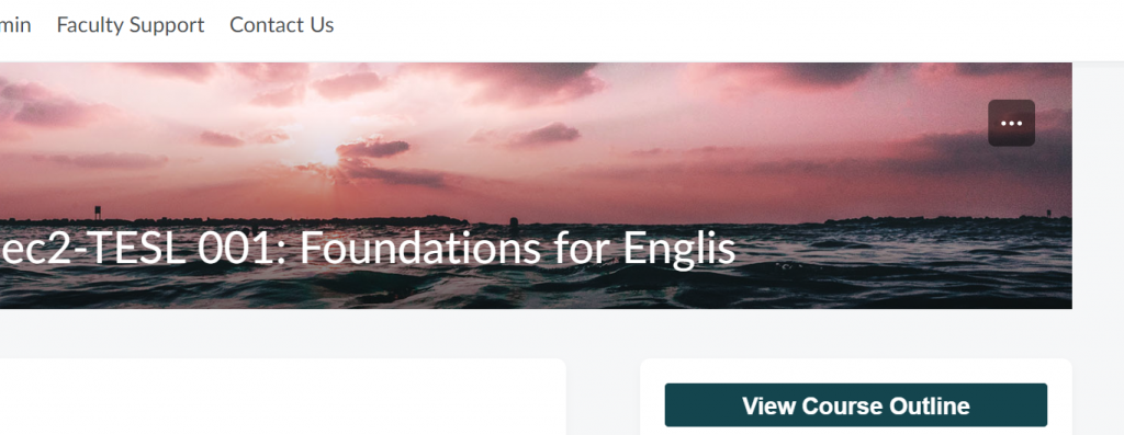 Banner of a remote TESL course