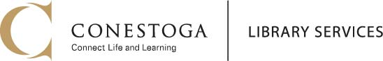 Conestoga logo. Library Services